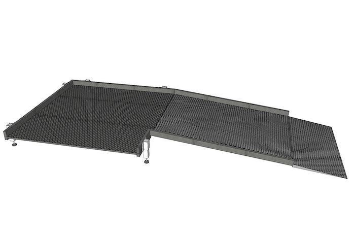 1300mm breite Systeme ohne Geländer