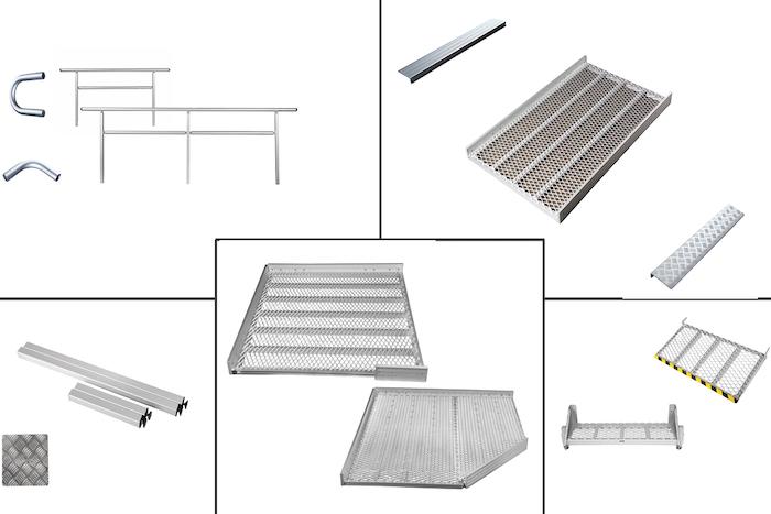 1300mm breite Systeme: Einzelteile