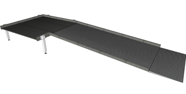 2000mm modular ramp without handrails