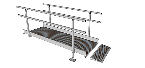 Connecting plate for 1500mm modular ramp system