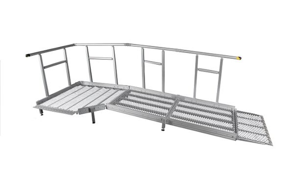 Technical drawing of modular ramp system