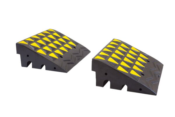 Pair of 150mm high rubber kerb ramps