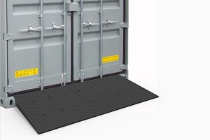 container rubber ramp